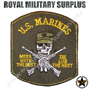 Patch - Military Emblema - US Marines (Skull/Green)