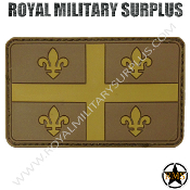 Patch - Flag (Rubber) - Quebec Tactical (Subdued Tan)