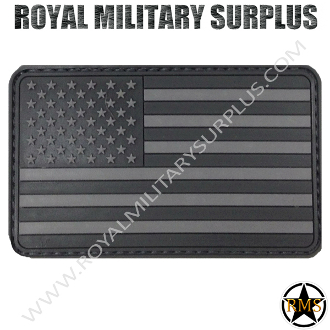 Patch - Flag (Rubber) - USA Tactical (Subdued Gray)