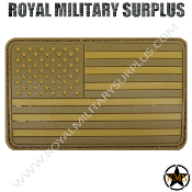 Patch - Flag (Rubber) - USA Tactical (Subdued Tan)