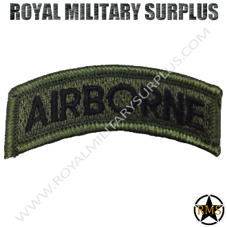 Patch - Military Insigna - Airborne (Green/Black)