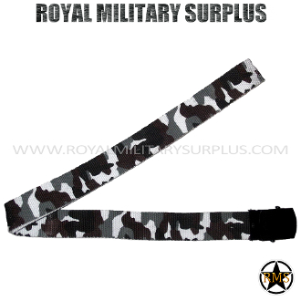 City Tactical Military Belt - Urban Camouflage Tactical Pattern