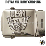 Belt Buckle US Navy Emblema Chrome