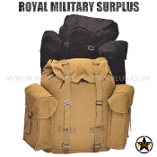 Backpack - Militia Rucksack - BLACK / COYOTE BROWN