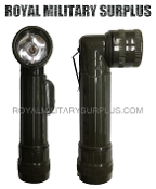 Army Military tactical angled flashlight - OD Green Camouflage