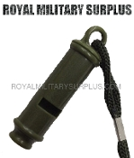 Army Military tactical whistle - OD Green Camouflage