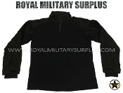 Army Military tactical combat shirt - Black Camouflage