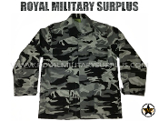 City Tactical Military Combat Shirt - Dark Urban Camouflage Tactical Pattern
