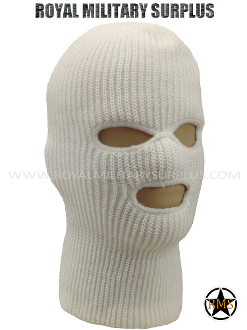 Army Military winter tactical balaclava hood - White Camouflage