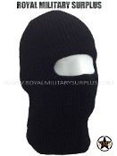 Balaclava / Hood (1-Hole Face Mask) - BLACK