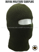 Balaclava / Hood (1-Hole Face Mask) - OD GREEN