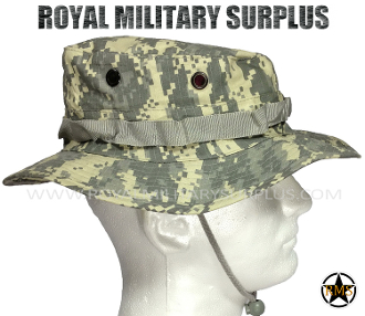 US Army Military Digital Boonie Hat - ACU Camouflage Universal Pattern