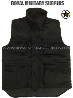 Army Military ranger vest - Black Camouflage
