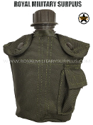 Army Military tactical water canteen - OD Green Camouflage