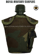 US Army Water Canteen - US Woodland Camouflage M81 Pattern