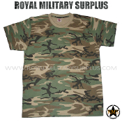 US Army T-Shirt - US Woodland Camouflage M81 Pattern