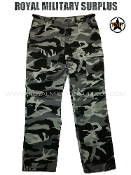 City Tactical Military Combat Pants - Dark Urban Camouflage Tactical Pattern