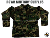 US Army Paratrooper Combat Smock Jacket - US Woodland Camouflage M81 Pattern