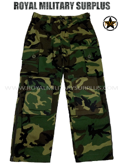 US Army Paratrooper Pants Trousers - US Woodland Camouflage M81 Pattern
