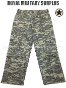 US Army Military Digital Combat Tactical Pants - ACU Camouflage Universal Pattern