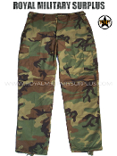 US Army BDU Combat Pants - US Woodland Camouflage M81 Pattern