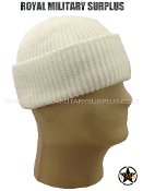 Army Military winter watch cap - White Camouflage