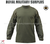 Army Military tactical combat shirt - OD Green Camouflage