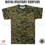 US Marines Digital Woodland T-Shirt - MARPAT Camouflage Woodland Pattern