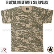 US Army Military Digital T-Shirt - ACU Camouflage Universal Pattern