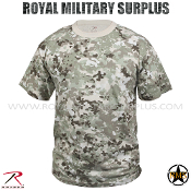 Army Military Tactical T-Shirt - Total Terrain Camouflage Universal Pattern