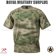 Army Military Tactical Concealment T-Shirt - A-TACS FG Camouflage Woodland Foliage Pattern