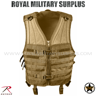 Army Military Tactical Vest Molle - Coyote Camouflage Desert Arid Pattern