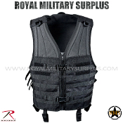 Army Military tactical vest modular molle - Black Camouflage