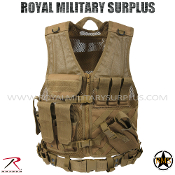 Army Military Tactical vest Cross Draw - Coyote Camouflage Desert Arid Pattern