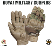 Military Army Tactical Gloves Hard Knuckles - MultiCam Camouflage Multi-environment Pattern