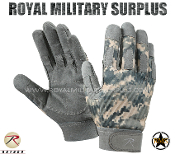 US Army Military Digital Tactical Gloves Combat Warrior - ACU Camouflage Universal Pattern