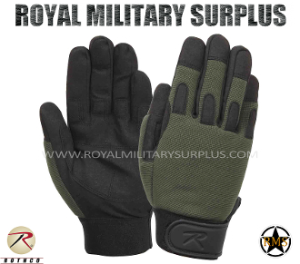 Army Military tactical gloves combat warrior - OD Green Camouflage
