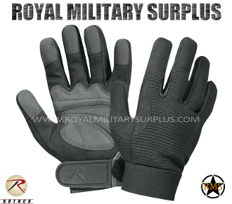 Army Military tactical gloves mechanics - Black Camouflage