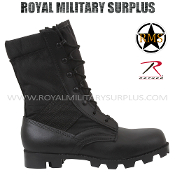 Army Military assault boots - Black Camouflage