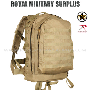 Army Military Backpack 3 Day Assault - Coyote Camouflage Desert Arid Pattern
