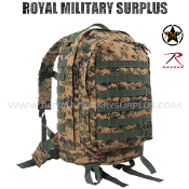 US Marines Digital Woodland Backpack 3 Day Assault - MARPAT Camouflage Woodland Pattern