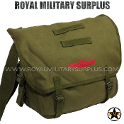 Army Military paratrooper shoulder bag - OD Green Camouflage