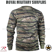 US Marines T-Shirt Long Sleeves - Tiger Stripe Camouflage
