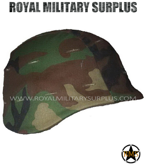 US Army Helmet Cover Pasgt - US Woodland Camouflage M81 Pattern