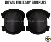 Army Military knee pads protection - Black Camouflage
