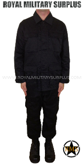 Army Military combat uniform - Black Camouflage