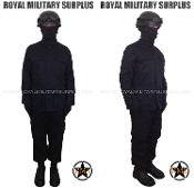Army Military swat tactical kit uniform - Black Camouflage