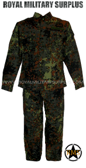 German Army Military Combat Uniform - Flecktarn Camouflage Bundeswehr woodland