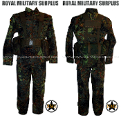German Army Military Commando Kit Uniform - Flecktarn Camouflage Bundeswehr woodland