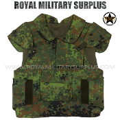 German Army Military Tactical Vest Body Armour - Flecktarn Camouflage Bundeswehr woodland